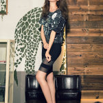 韩国时尚女星郑幼贞私房妩媚写真