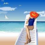 精选夏日海滩矢量卡通高清图片大全